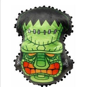 Sourpuss Frankenstein tiki pillow